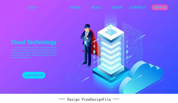 networking concept online computing technology vector