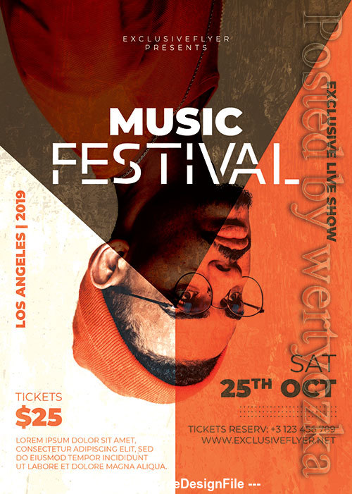 Music Festival Poster and Flyer Psd Template