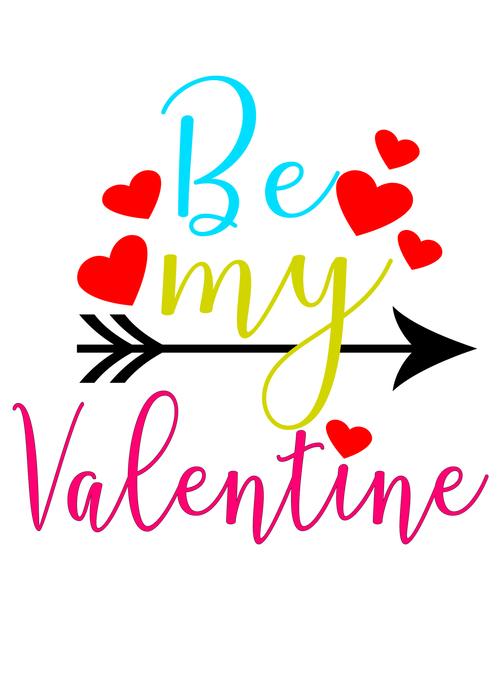 My arrow of love valentine day card vector