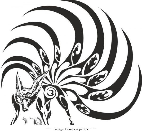 Naruto kyubi free cdrs art vectors