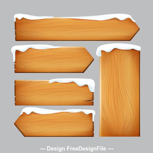 Nature vintage wooden sign vector illustration