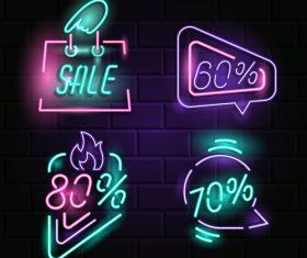 Neon billboard vector