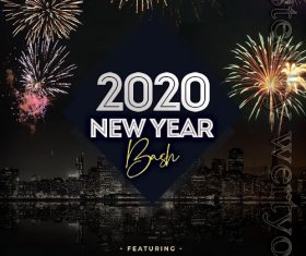 New Year 2020 Night PSD Flyer Template