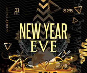 New Year Eve Poster and Flyer Psd Template