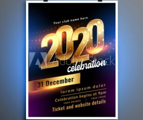 New year club party flyer vector