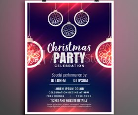 New year decoration party flyer vector
