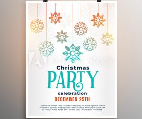 New year greeting card christmas party flyer vector