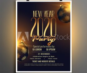 New year party cover flyer vector