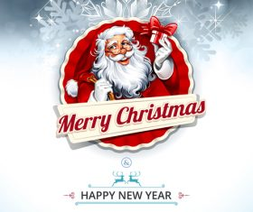 New year santa greeting card text vector