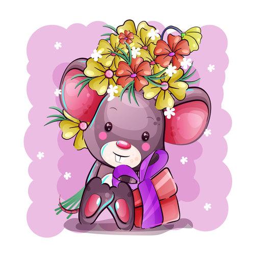 Nice cartoon Rat vector
