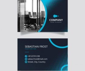Office page business card design vector