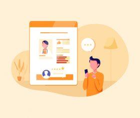 Online booking doctor illustration vector