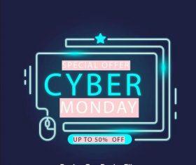 Online sales concept neon billboard vector