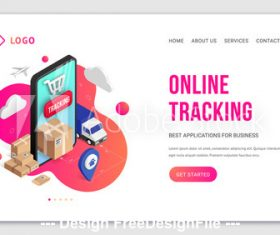 Online tracking cover vector