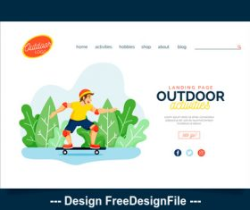 Outdoor sports illustration template vector