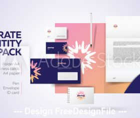 Pink background corporate brand image design vector