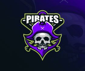 Pirate logo design vector