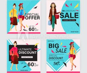 Poster design holiday promotion vector