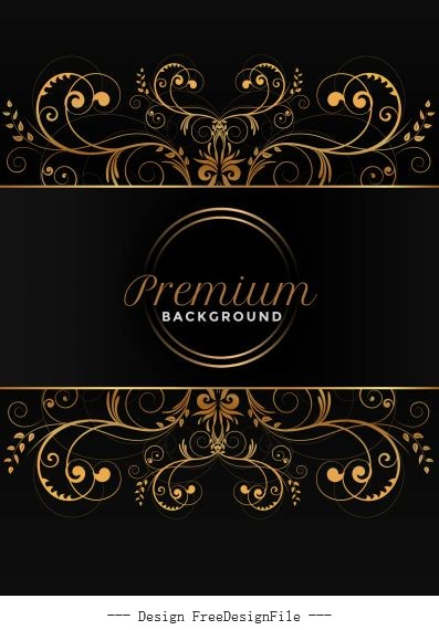 Premium background symmetric curves elegant dark decor vector