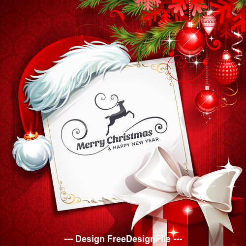 Pretty christmas card vector