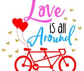 Pretty valentine day card vector