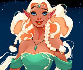 Princess of elves vector