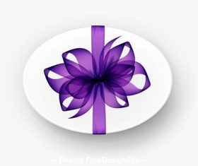 Purple silk bowknot vector