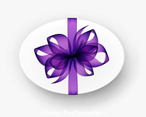 Purple silk bowknot vector