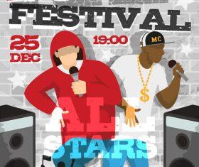 Rap festival vector