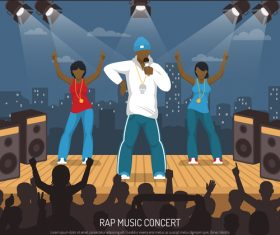 Rap music concert vector