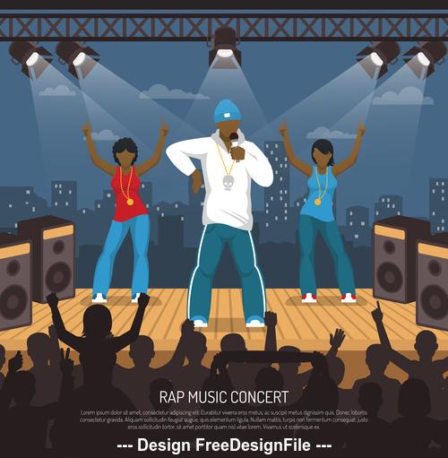 Rap music concert vector