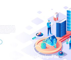 Real estate flat concept vector