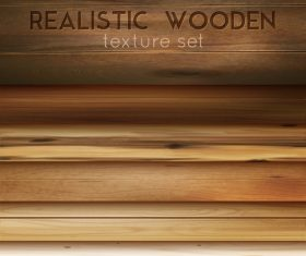 Realistic wooden decorative texture vector