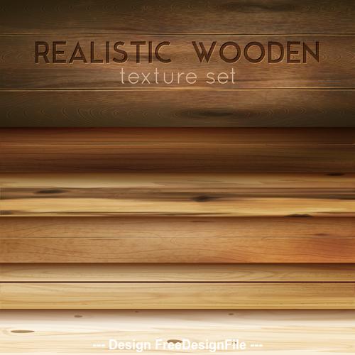 Realistic wooden decorative texture vector