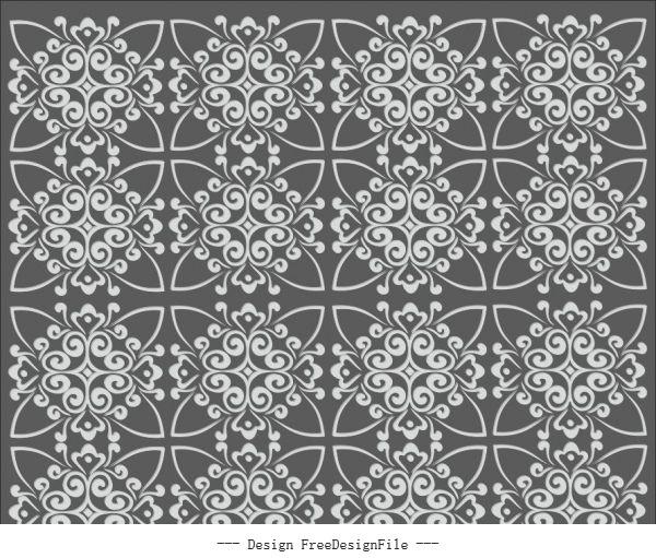 Repeating geometric pattern free cdrs art vector