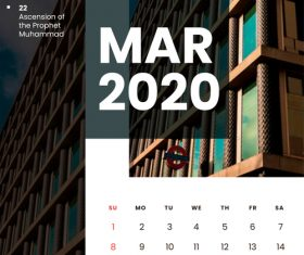 Residential high-rise building cover 2020 calendar vector 03
