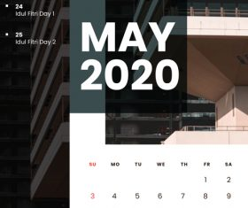 Residential high-rise building cover 2020 calendar vector 05
