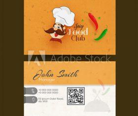 Restaurant business card design vector