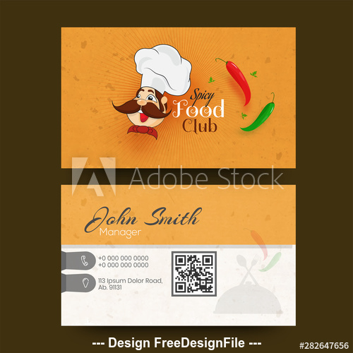 Restaurant business card design vector