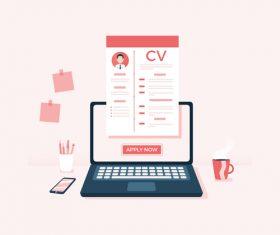 Resume illustration vector