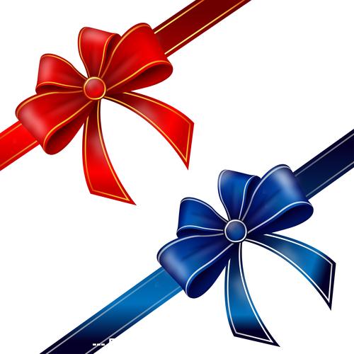 Ribbon bow vector