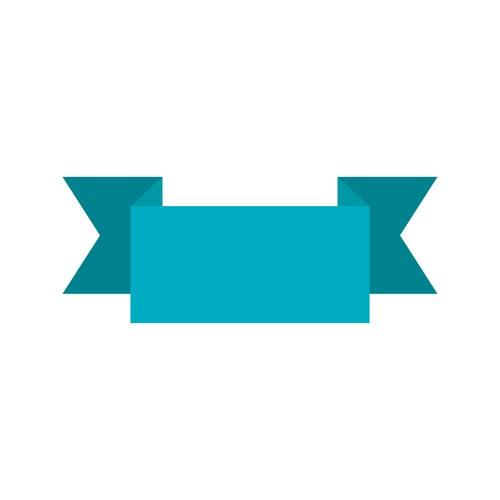 Ribbon icon vector