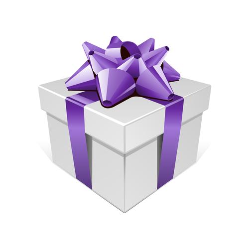 Ribbon packing box gift vector