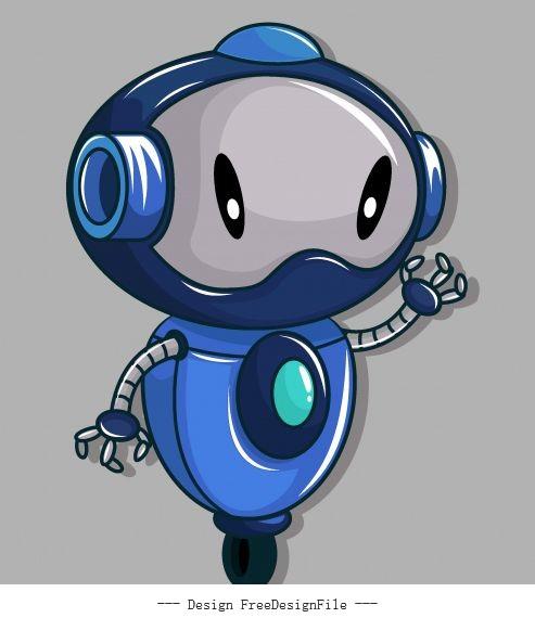 Robot wheel leg humanoid vector