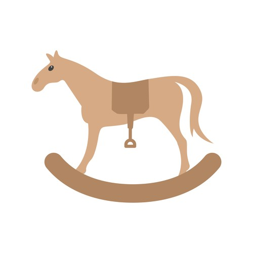 Rocking horse Icons vector
