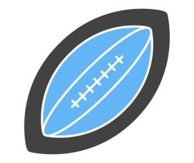 Rugby ball Icons vector