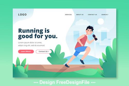 Running is good for you cartoon illustration vector