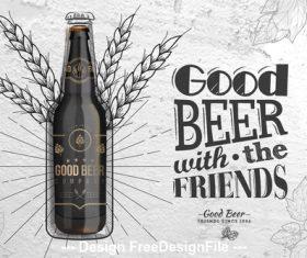 Rye beer poster vector