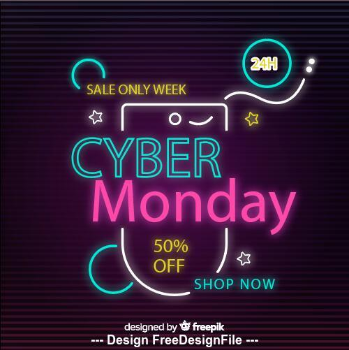 Sale tags colorful neon vector