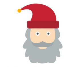 Santa Claus icon vector